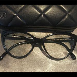 Chanel Black Cat Eye Eyeglasses